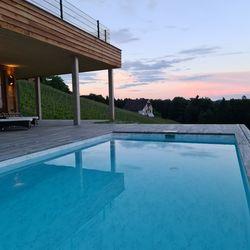 Terrasse & Pool Ferienhaus Weinschlöss'l ©Liebe zur Steiermark